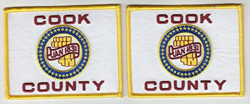 Embroidered Patch Cook County Flag Regular--Full Color 2 Patches Sheriff Police fire IL Illinois Made in The USA