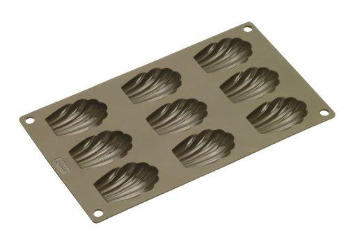 Lurch 85025 FlexiForm Madeleine 9-fach (6 x 4 cm) aus 100% BPA-freiem Platin Silikon, braun