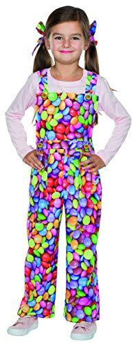 Luxuspiraten - Kinder Jungen Mädchen Latzhose Schokolinsen Kostüm, perfekt für Karneval und Halloween, 140, Mehrfarbig
