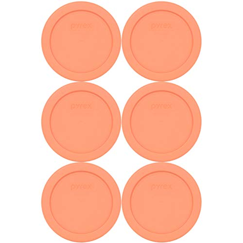 Pyrex 7202-PC Bahama Sunset Plastic Food Storage Replacement Lids - 6 Pack