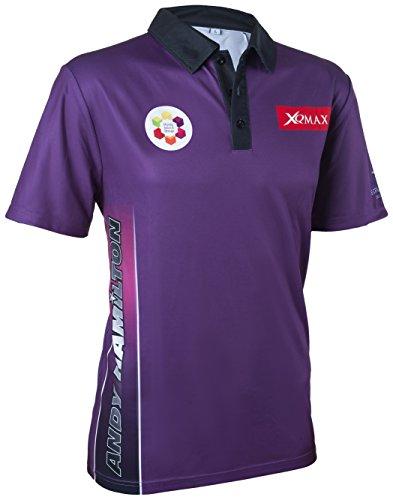 XQ Max Darts Andy Hamilton Match - Maglietta Unisex, Taglia XL, Colore: Viola