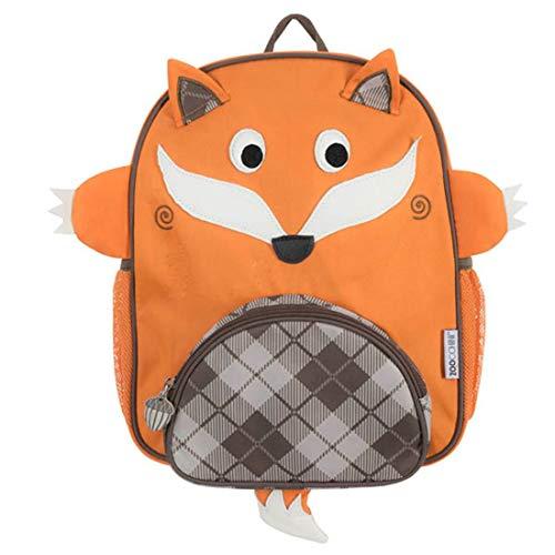 Mochila infantil para uso diário Zoocchini – 26 cm L x 10 cm P x 33 cm A, projetada nos EUA, Fox Orange