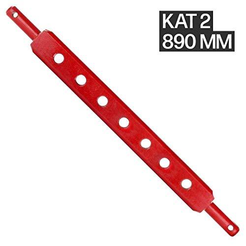 Ackerschiene | Kat 2 | 890 mm lang | 7 Löcher | Anhängeschiene | Trecker | Traktor | Schlepper | Arbeitsgeräte | Stahl | Agrar | Agrartechnik