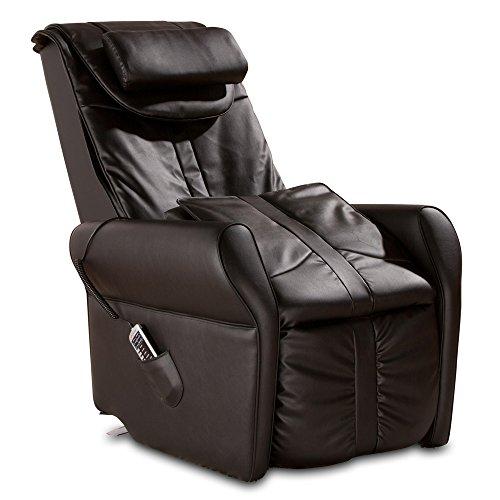 maxVitalis Massagesessel, Fernsehsessel mit Wärmefunktion, Shiatsu-Massage, Elektrische Aufstehfunktion, 5 Massagezonen, intelligenter Körperscan, praktisches Seitenfach (schwarz)