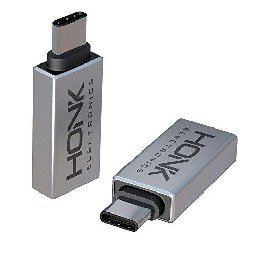 Preisvergleich Produktbild HONK 1x USB C Adapter auf USB A Connector mit OTG Funktion - Praktisch Klein für unterwegs - Design aus Metall - zum Verbinden Ihres USB-Zubehör mit Ihren neuen USB-C Endgeräten