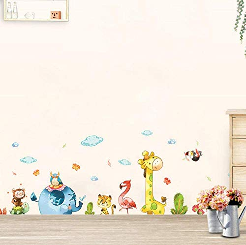 Cartoon Animal Party Wall Stickers Diy Decal Kids Adhesive Vinyl Wallpaper Mural Baby Girl Boy Room Nursery Decor