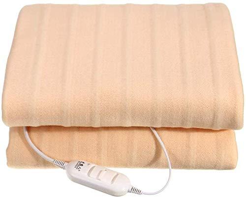 Dubbele elektrische 220 V blanket, polyester soft matras, compleet uitgerust met matrasoplegger met 2 instellingen, comfortabel, machinewasbaar en veilig voor de hele nacht gebruik Mirage 1.7 * 0.8m