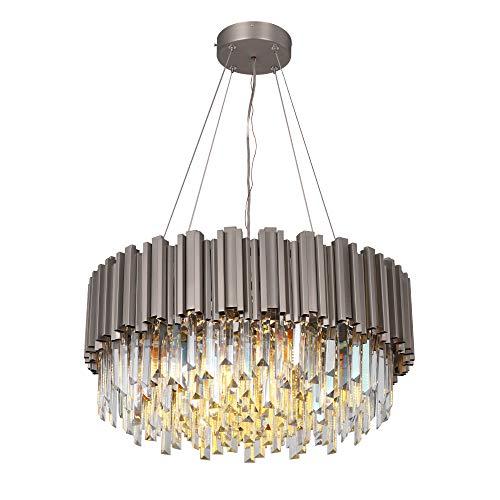 Nickel Luxury Modern Crystal Chandelier