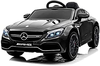 Dorsa Mercedes Benz C63 Ride on Car with Remote Control for Kids, Black, 1588Q