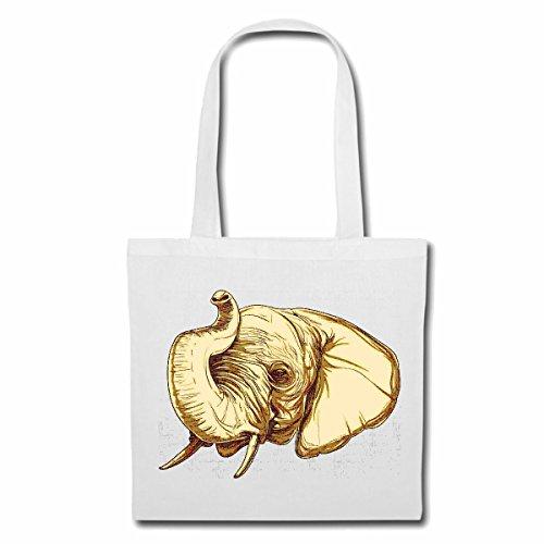 sac à bandoulière ELEPHANT Lifestyle Mode STREETWEAR HIPHOP SALSA LEGENDARY Sac Turnbeutel scolaire en blanc
