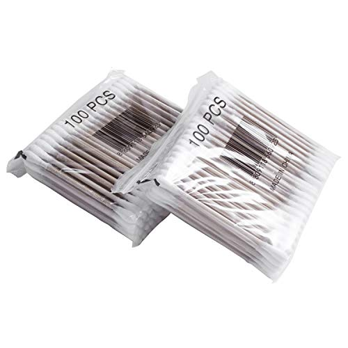 NEYOANN 800 unids/paquete desechables bastoncillos de algodón de bambú bastoncillos de algodón de limpieza de oídos palillos de madera maquillaje herramientas de salud tampones