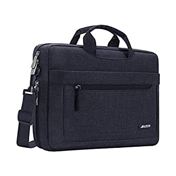 MOSISO Laptop Shoulder Bag Compatible with MacBook Pro/Air 13 inch 13-13.3 inch Notebook Computer Polyester Messenger Carrying Briefcase Sleeve with Adjustable Depth at Bottom Black
