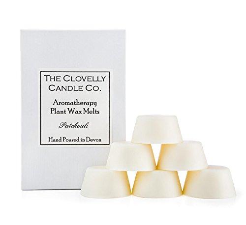 Clovelly Soap Co. Boîte de 6 Fondants - Parfum Patchouli - Cire de Soja - Naturels et Faits Main - Aromathérapie