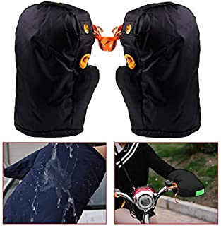 DDV- US - New 1 Pair of Mitts Thermal Waterproof Motorcycle Grip Handlebar Muffs Hand Protector Mitts Gloves