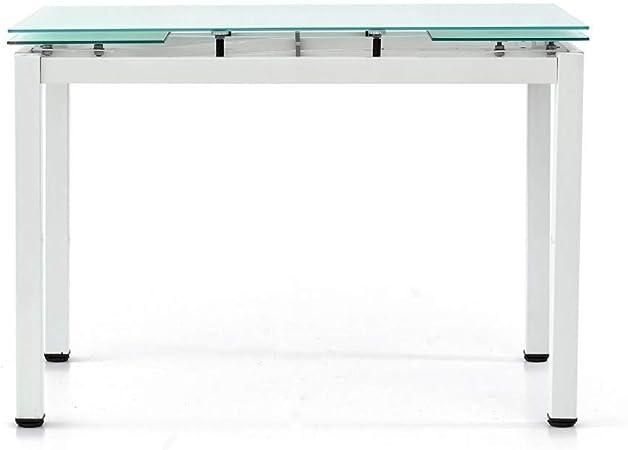 Spazio Casa Tavolo In Vetro Rettangolare Allungabile 110 X 70 Grigio Amazon It Casa E Cucina