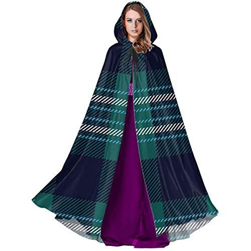 Zome Lag Vampir kostuum, pet met capuchon, hekmagie omhang,volwassene luxe omhang,traditionele tartan Scottish plaid geruit vrouw capuchon volwassen cloak cape