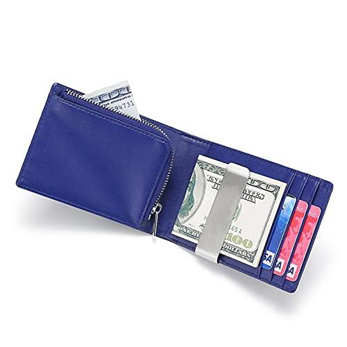 K-Park Billetera delgada para hombre con clip de dinero RFID bloqueo cartera corta de cuero cartera plegable titular de la tarjeta de crédito minimalista bolsillo frontal para hombres regalo favorable