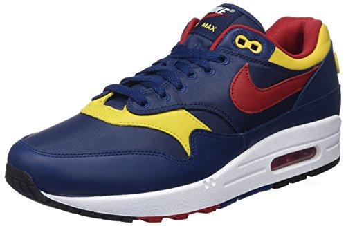 Nike Air MAX 1 Premium, Zapatillas de Gimnasia Hombre, Azul (Navy/Gym Red/Vivid Sulfur/Whit 403), 48.5 EU