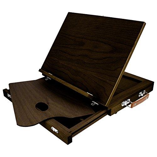 KINGART Solid W/Drawer (Espresso) Wood Tabletop Easel