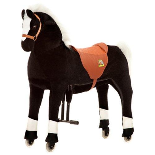 Animal Riding Reitpferd Maharadscha X-Large, Reittier ab 8 Jahre, Sattelhöhe 80 cm, Pferd schwarz - ARP001L