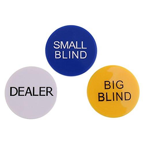 Poker Buttons Set - Dealer/ Big Blind / Small Blind
