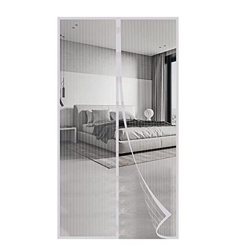 Zanzariera Magnetica per Porte Chiusura Automatica Tenda Zanzariera a Strisce Anti Zanzare Insetti per Porte Finestre Balcone Soggiorno (100x210 cm)
