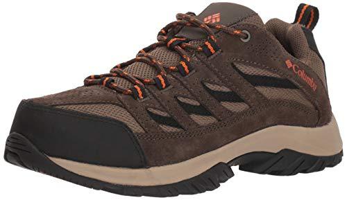 Columbia Men's Crestwood Hiking Shoe, camo Brown, Heatwave, 9 Wide US