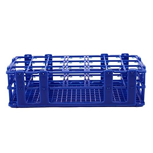 Soporte de rack de caja de 21 orificios de plástico azul para tubos de 50 ml de centrífuga