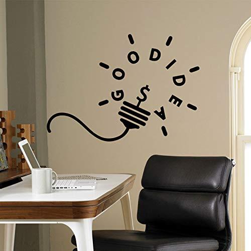 Motivación pared calcomanía buena idea bombilla pegatina oficina sala de estar arte extraíble diseño personalizado Mural Deco A2 81x57cm