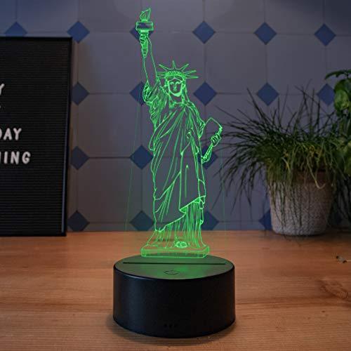 LED Deko Lampe Freiheitsstatue New York - Elbeffekt - USA Amerika Dekoration - Reisen Travel Souvenir Geschenk Andenken Freiheitsstatue