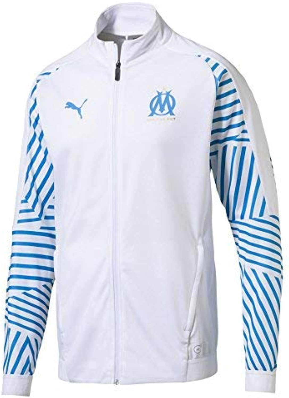 PUMA 2018-2019 Olympique Marseille Stadium Jacket (White)