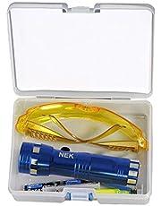 POHOVE - Kit de detector de fugas fluorescentes para coche, accesorios de repuesto para uso ecológico, tinte UV profesional, herramientas de reparación de aire acondicionado
