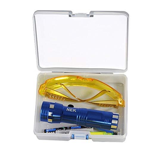 POHOVE Kit de détecteur de fuite fluorescente précis Accessoires de voiture de remplacement sy à utiliser respectueux de l environnement UV Teinture Outils de climatisation réparation
