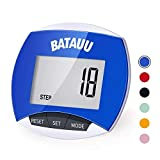 BATAUU Best Pedometer, Simply Operation Walking Running Pedometer with Calories Burned and Steps Counting (Blue)