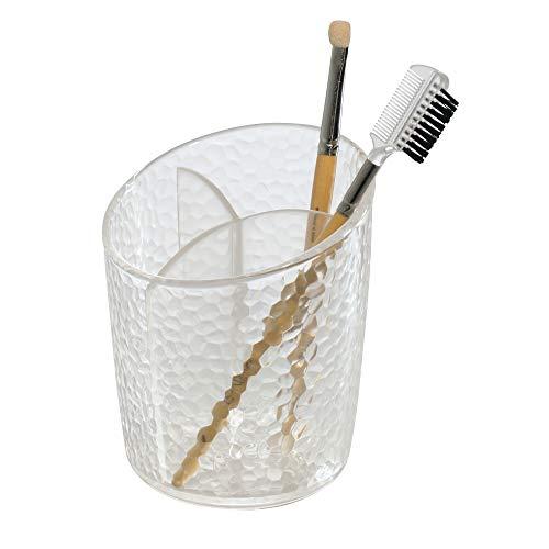 iDesign Organizador de maquillaje, pequeño vaso de baño de plástico para pinceles...