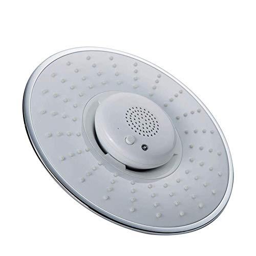 ASDZXC Kreativer Duschkopf, Duschkopf für Heimmusik Duschkopf, integriertes Bluetooth Kann Musiktelefon-Dusche anrufen(White)