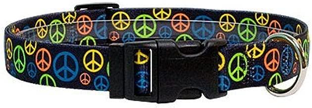 Peace Signs Dog Collar - Size Medium 14