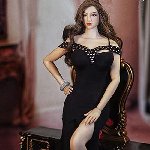 QQAA 1/6 Scala Muñeca Ropa y Accesorios Mujer Cuerpo Muñeca Modelo Modelo Tres Traje Muñeca Ropa Figuras Accesorio Juguetes Tostes Accesorio Accesorio Muñecas Disfraz Black-B