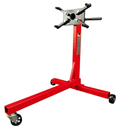 BIG RED T23401 Torin Steel Rotating Engine Stand with 360 Degree Rotating Head: 3/8 Ton (750 lb) Capacity, Red