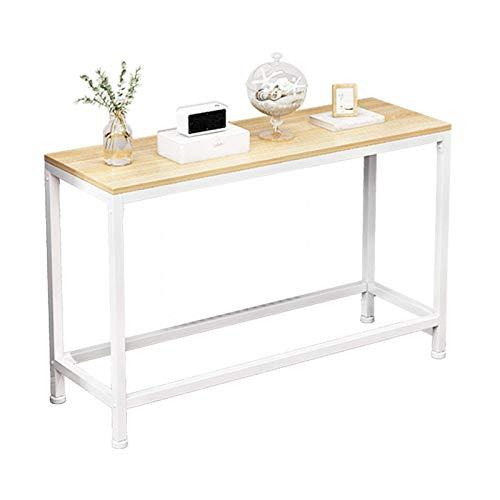 Consola de estilo industrial, consola de pasillo minimalista moderna, mesa de sofá de sala de estar, con marco de metal y panel de madera maciza, utilizada en el pasillo, la sala de estar, el dormitor