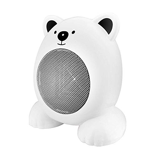 RUIMA Mini Wärmer- Electric Wire Heizung Desktop-Cartoon Heizung Warm Fan Start Hitzen Automatisches Ausschalten Durable (Color : White)