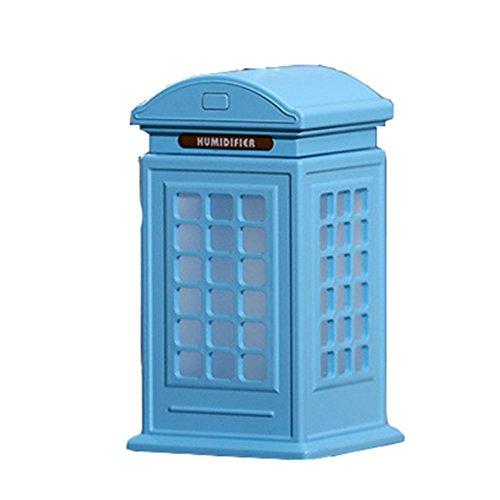 LX7 Aromatherapie-Ätherisches Öl-Diffusor-Kühler Nebel-Luftbefeuchter Ultraschall-Eigenschaft LED-Licht-Haus, Büro, Wohnzimmer, Badekurort, Auto,Blue