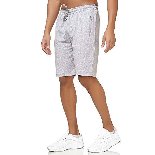 Smith & Solo Pantalones cortos de deporte para hombre, pantalones cortos para correr, de verano, de algodón, para correr, fitness, deporte, bermudas para entrenar. 7316-gris S
