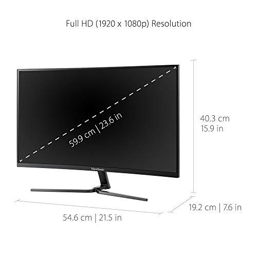 Viewsonic VX2458-C-MHD, 24 Zoll, Curved, Full-HD - 5
