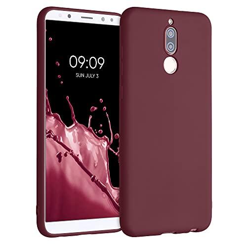kwmobile Carcasa para Huawei Mate 10 Lite - Funda para móvil en TPU Silicona - Protector Trasero en Rojo Vino