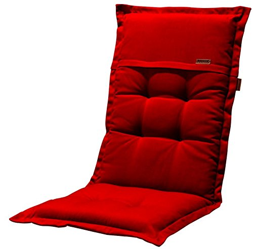 Madison 7MONL-F118 stoelkussen, laag rib, 50 x 105 cm, acryl, rood