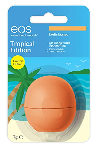 Eos Tropical Edition Exotic Mango Smooth Sphere Lip Balm, 7 G