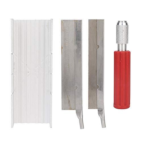 Alucy Sieraden Maken Gereedschap Wax Messen Zaag Snijder Snijgereedschap Set met 100mm Handvat Sieraden Maken Gereedschap