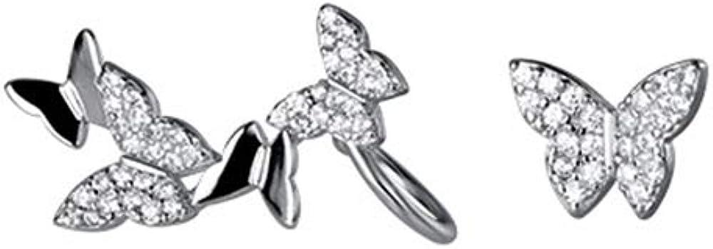 Butterfly Stud Earrings Sterling Silver Girls 5 ☆ popular for S925 Atlanta Mall Women Dai