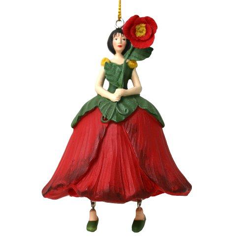 ROSEMARIE SCHULZ Heidelberg Mohnblumen Blumen Mädchen zum Hängen Flower Fairy Figur/Dekofigur/Blumenkind/Blumenskulptur